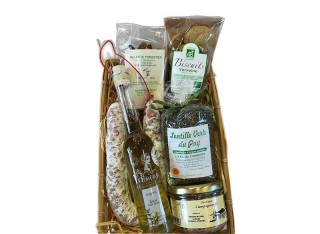 "Panier garnis ""Gourmandises de Haute-Loire"""