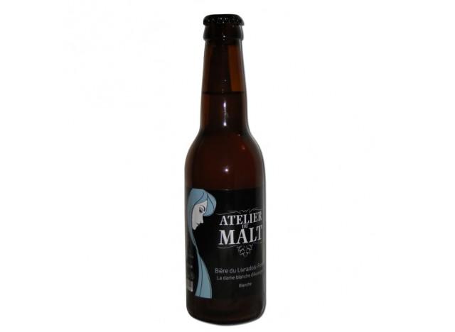 """Bière blanche """"Dame blanche d'Auvergne"""" ATELIER DU MALT 33CL"""