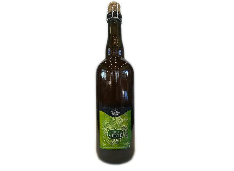 Bière blonde PERLE VERTE SORNIN 75CL