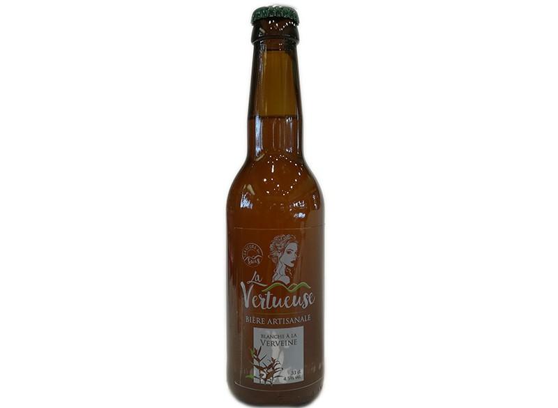 Bière blanche artisanale à la verveine 33CL - LA VERTUEUSE
