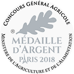 Médaille d'Argent au Concours Général Agricole de PARIS 2018