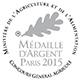Médaille d'Argent au Concours Général Agricole de Paris en 2015