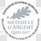 Médaille d'Argent du Concours Général Agricole de PARIS en 2017