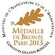 Concours Général d'Agriculture Médaille de Bronze Paris 2013