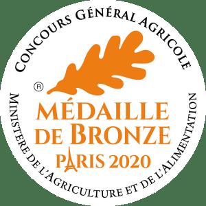 Médaille de Bronze au Concours Général Agricole Paris 2020